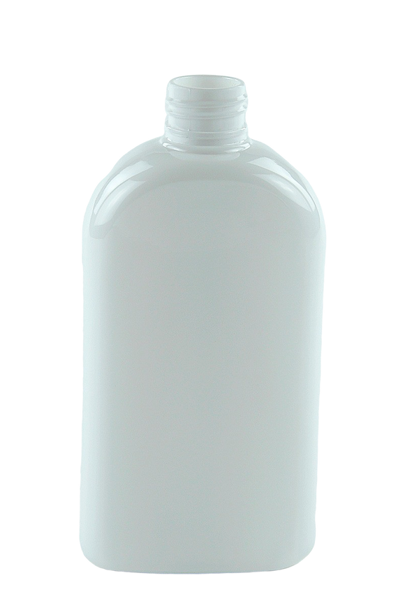 Bottle 250mL HIP Flat 24/410 WhiteSolid PET