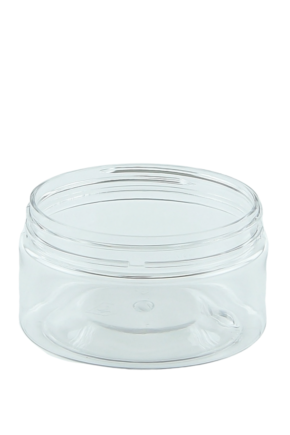 Jar 100mL Lowline Base 70mm Clear PET