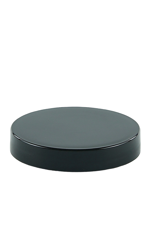 Lid 70mm Lowline Black PP Flat
