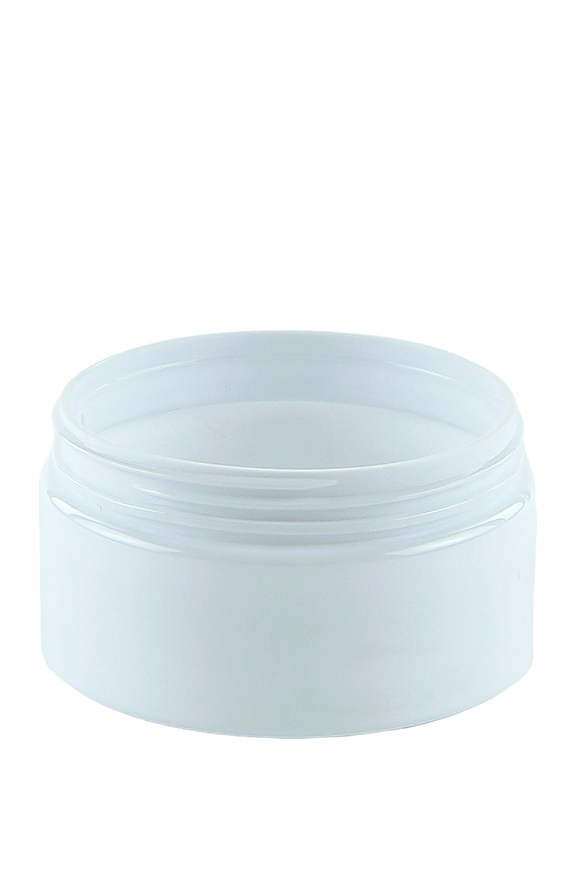 Jar 100mL Lowline Base 70mm White-Brilliant PET