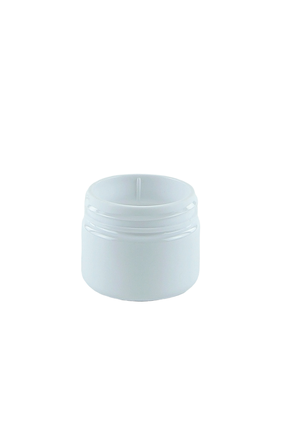Jar 20mL Lowline Base 37mm White-Brilliant PET