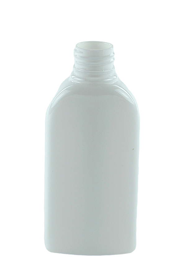 Bottle 125mL Hip Flat 24/410 WhiteSolid PET