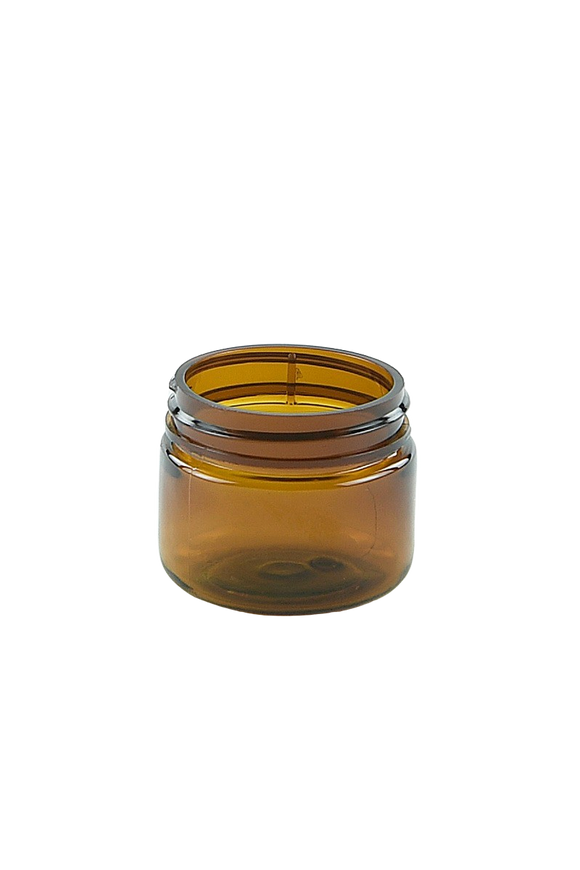 Jar 20mL Lowline Base 37mm AmberTint PET