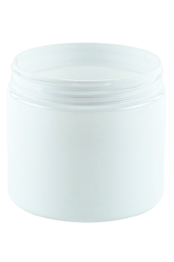 Jar 450mL Lowline Base 89mm White PET