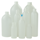 Bottle 125mL VP Boston FLUORINATED 24/410 Natural HDPE