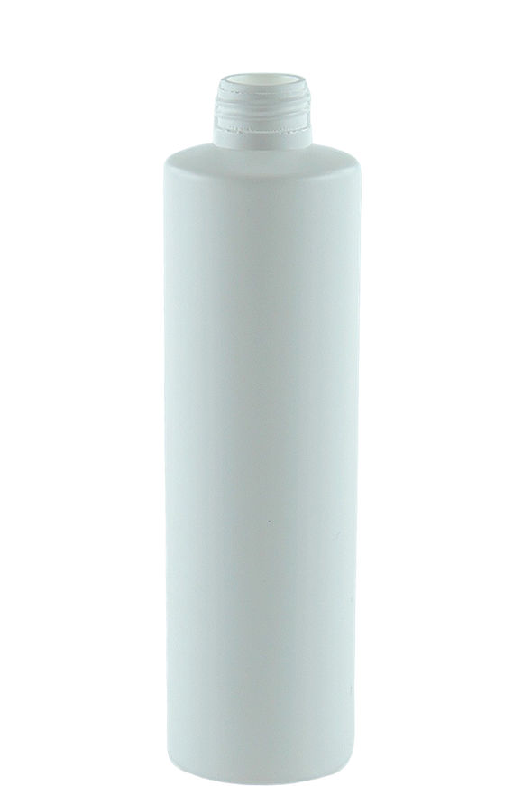 Bottle 250mL VP Pillar 24/410 White HDPE