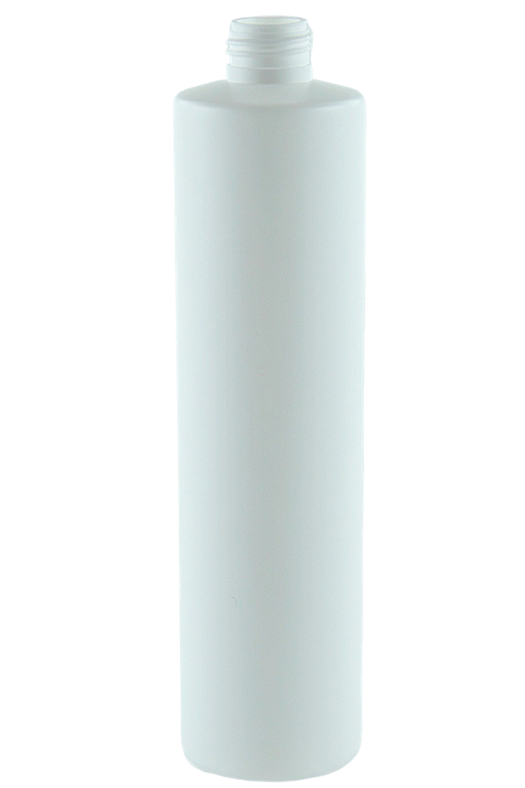 Bottle 375mL VP Pillar 24/410 White HDPE
