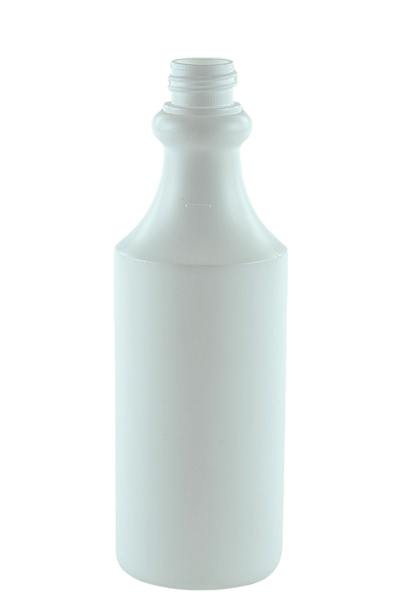 Bottle 500mL VP Round Trigger 28/410 White HDPE