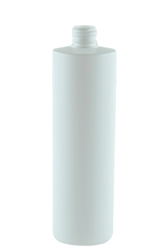 Bottle 500mL VP Pillar 24/410 White HDPE