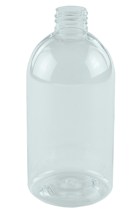 Bottle 500mL LAX Short Boston 28/410 Clear RPET (30% PCR)