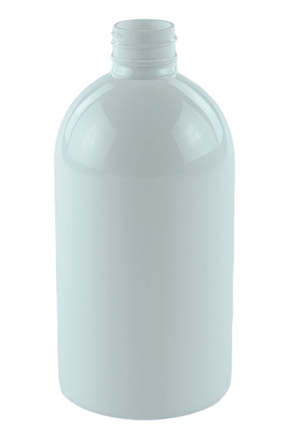 Bottle 500mL LAX Short Boston 28/410 White RPET (30% PCR)
