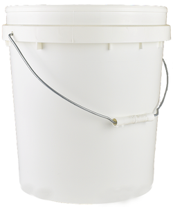 Pail 15Ltr Base ONLY White PP TAMPER-EVIDENT