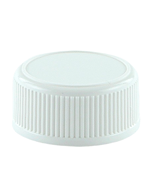 SCCR Screw Cap 38/410 White Ribbed-Wall Wedge-Seal Fine-Grip