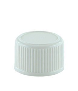 SCCR Screw Cap 28/410 Long-Skirt White Ribbed-Wall Wedge-Seal