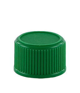 SCCR Screw Cap 28/410 Long-Skirt Green Ribbed-Wall Wedge-Seal