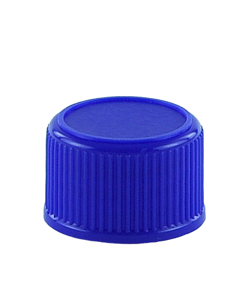 SCCR Screw Cap 28/410 Long-Skirt Blue Ribbed-Wall Wedge-Seal