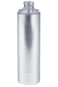 Airless Bottle 100mL Ava Kapp Brush-Silver Body with Shiny-Silver Base