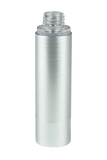 Airless Bottle 50mL Ava Kapp Brush-Silver Body with Shiny-Silver Base