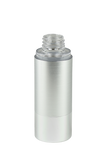 Airless Bottle 30mL Ava Kapp Brush-Silver Body with Shiny-Silver Base