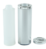 Airless Bottle 120mL Ava Kapp Natural/Matte-Silver + Collar Shiny-Silver