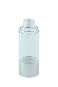 Airless Bottle 30mL Ava Kapp Clear Body with Matte-Silver Base