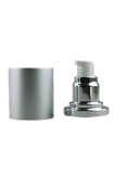 APJY Airless Lotion Pump MSOC (for Bot 100mL Kapp) Shiny-Silver with White Button + Overcap MATTE-Silver