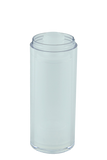 Airless Bottle 30mL Ava Twist Clear Outer + Natural Inner