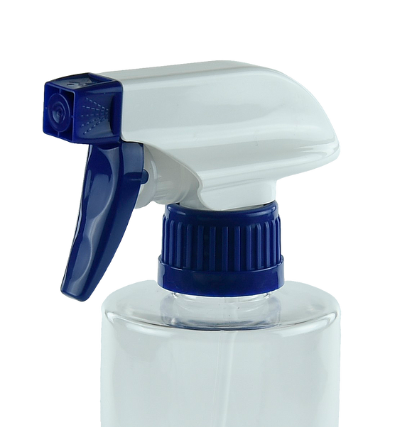 TSZ Trigger Spray DUO 28/410E Blue/White 250dt fbog Ribbed-Wall