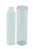 Airless Bottle 50mL Ava Twist Clear Outer + Natural Inner