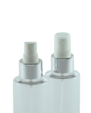 FMZ Fine Mist Spray 24/410 White with Silver-Shiny Sleeve 230dt fbog + Overcap Clear Domed