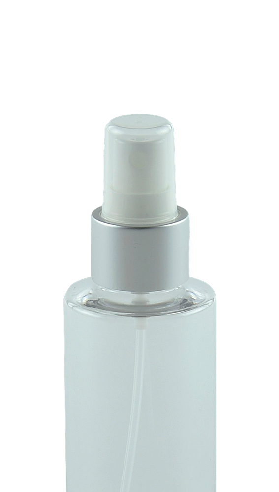 FMZ Fine Mist Spray 24/410 White with Matte-Silver Sleeve 230dt fbog + Overcap Clear Domed