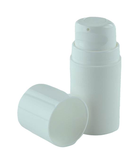 Airless Bottle 15mL Ava Snow White Snap-Neck