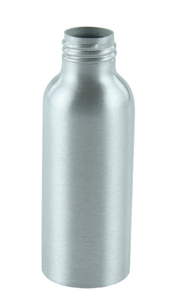 Bottle 100mL Alf Tall Boston 24/410 Silver-Original Aluminium