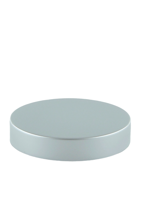 Lid 70mm Lowline White with Matte-Silver Aluminium Sleeve + Wad