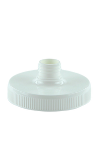 Pump Lid 95mm 28/410 Neck White PP Ribbed-Wall