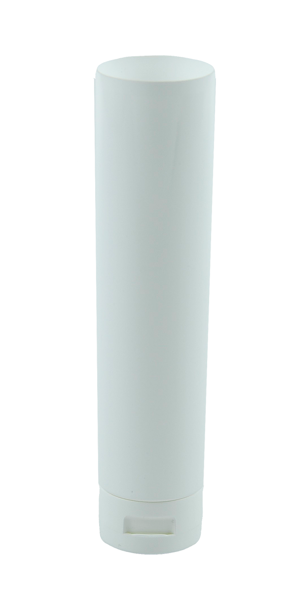 Tube 125mL White Gloss EVOH with Induction Seal 40 x 150mm + Flip Top White Gloss