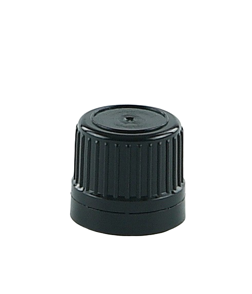 SCSM Screw Cap 18/410-TE Black Ribbed-Wall TAMPER-EVIDENT