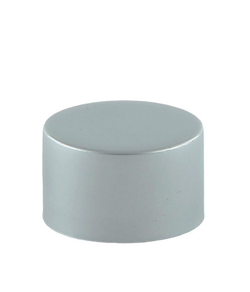 SCYX Screw Cap 28/410 White with Matte-Silver Aluminium Sleeve Smooth-Wall + PE Wad