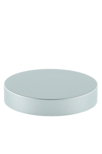 Lid 89mm Lowline White with Matte-Silver Aluminium Sleeve + Wad