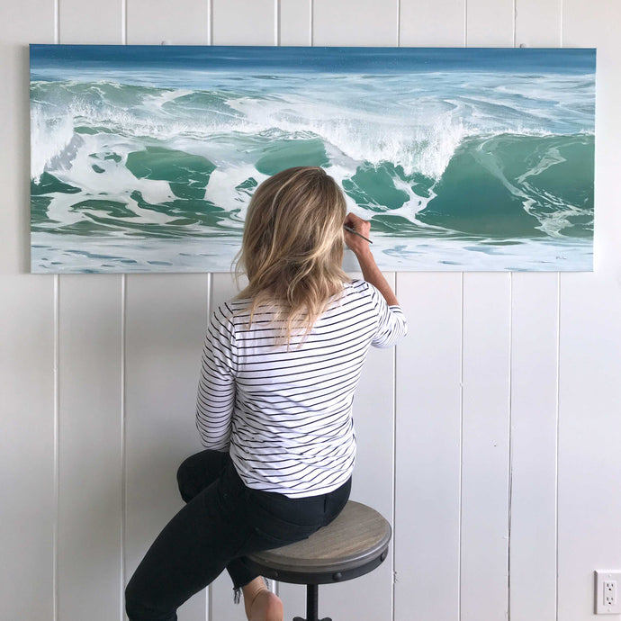 Large Commissioned Ocean Painting 🦋