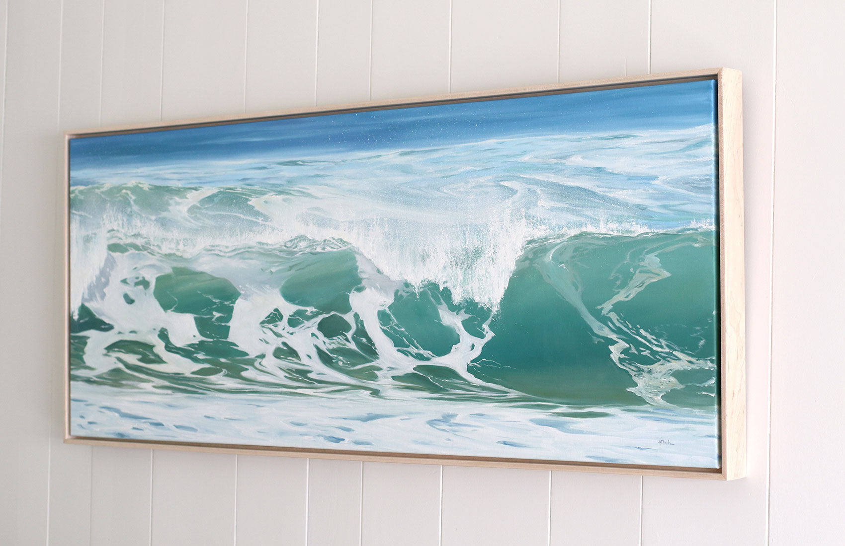 Final Ocean Painting Commission Floating Frame