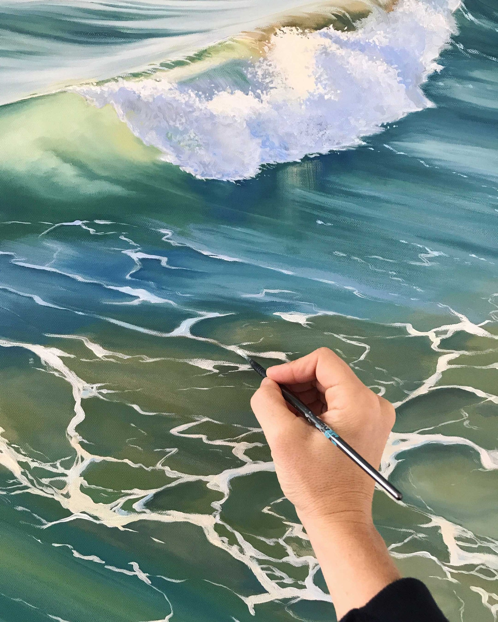 Painting Waves and Seafoam
