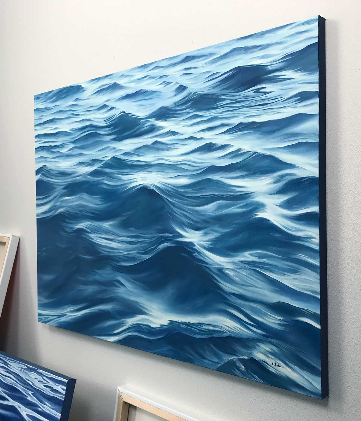 "Ocean Art 48""x36"" Large Original Oil Painting"