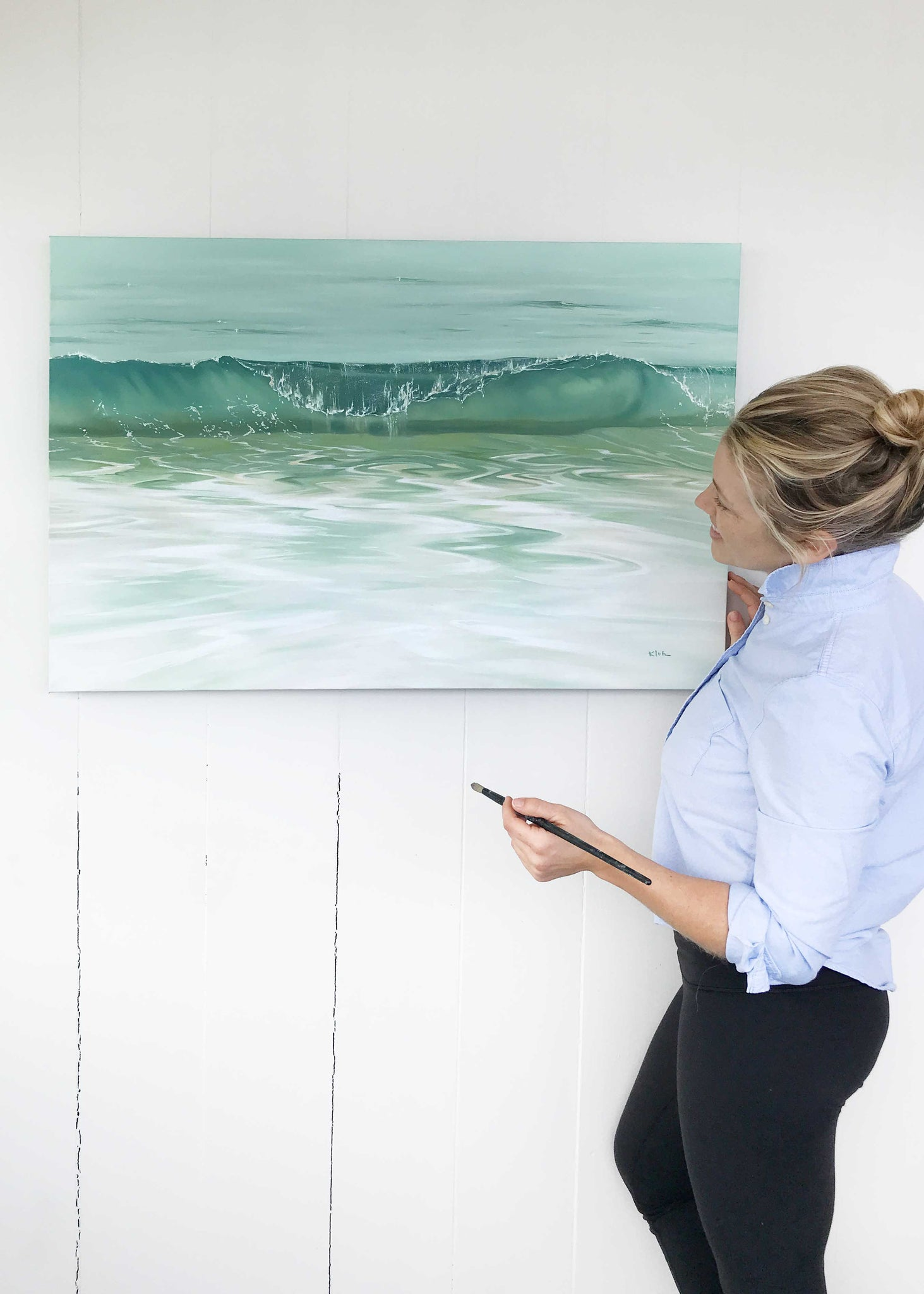 Painting Ocean Waves, Coastal Art for Beach House Vibes
