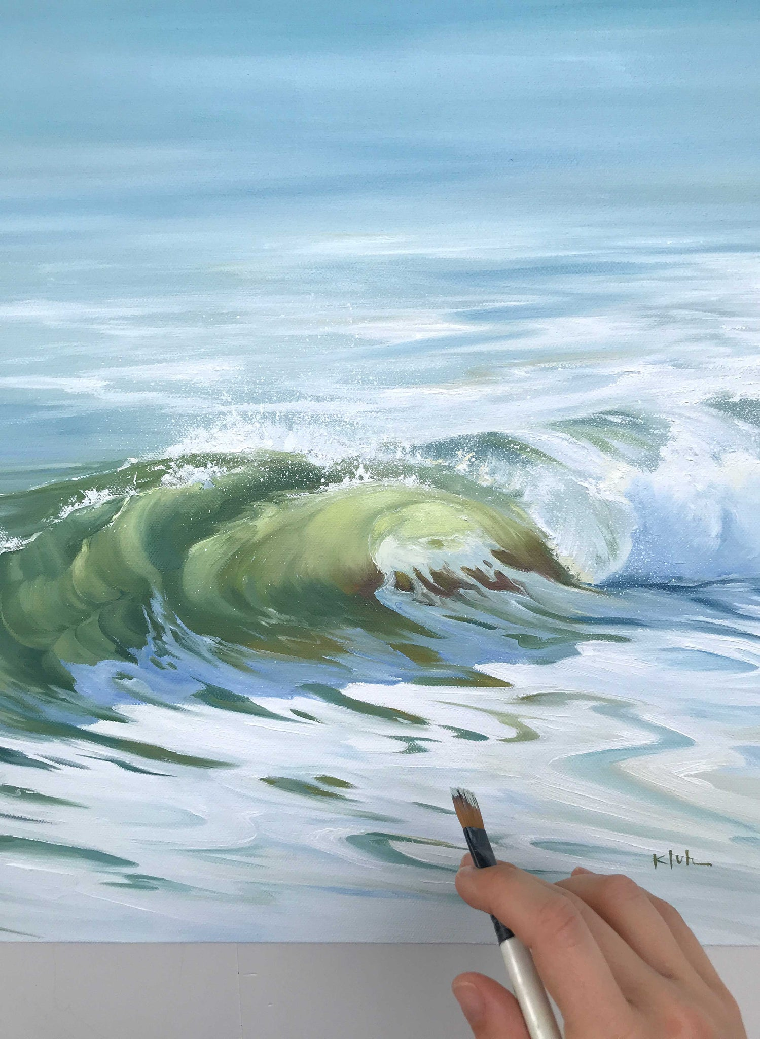 Painting Surrender, new ocean art - coastal decor