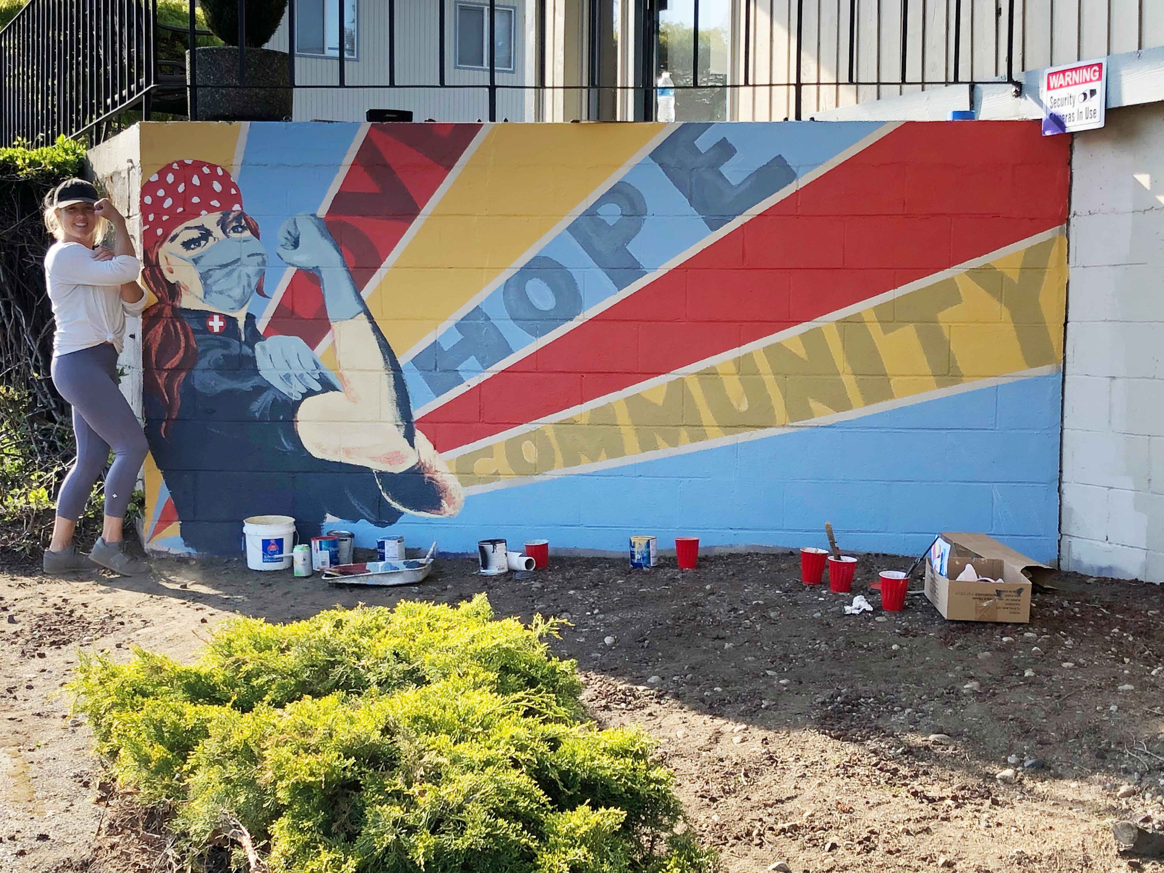 Rosie the Riveter Mural in Olympia WA