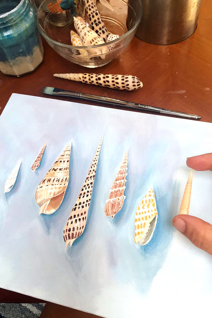 Painting Shells from Tahiti and French Polynesia