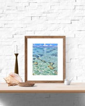 Ocean art print of clear water tahiti pacific ocean decor