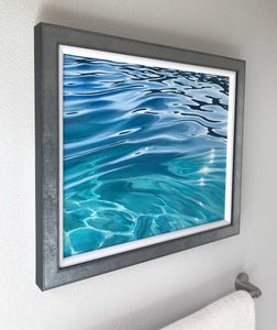 Clear water artwork decor bright blues and clear water Julie Kluh Art water artwork