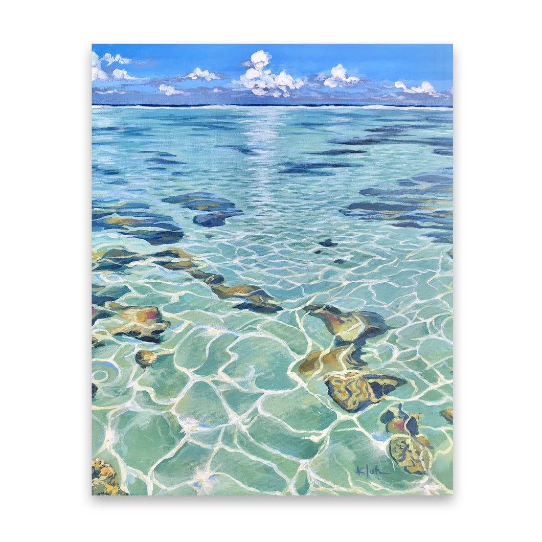 Light Cracks | Tahitian Lagoon Art Prints